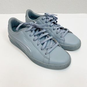 Puma Basket Gray Sneakers Youth Unisex size 7